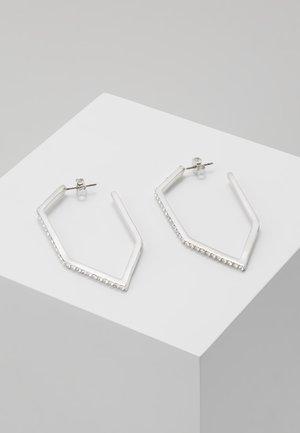 ANGULAR HOOP  - Náušnice - silver-coloured