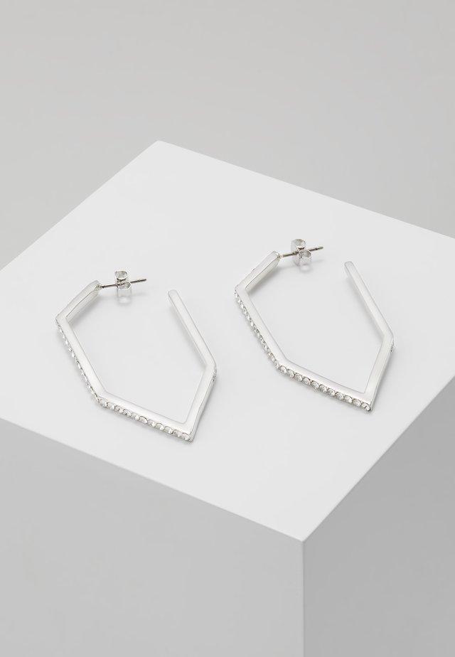 ANGULAR HOOP  - Earrings - silver-coloured