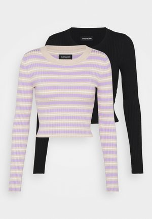 2 PACK - Trui - black/beige/lilac