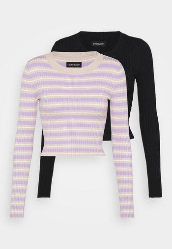 2 PACK - Svetr - black/beige/lilac