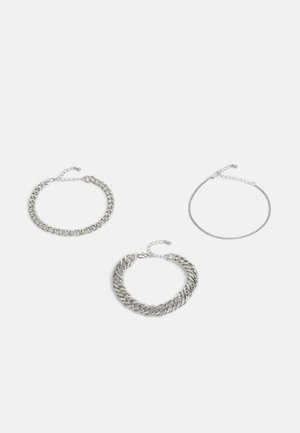 PCCHAIN BRACELET 3 PACK - Náramek - silver-coloured