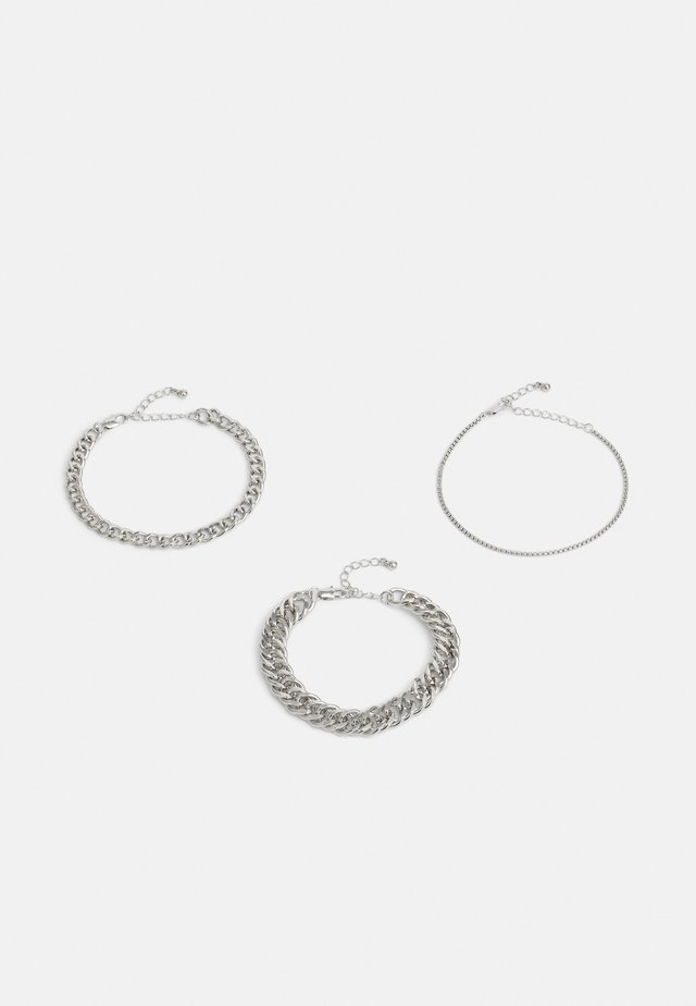 PCCHAIN BRACELET 3 PACK - Bracciale - silver-coloured