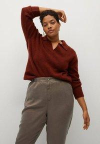 Violeta by Mango - NAIROBI - Trousers - mittelbraun - 3