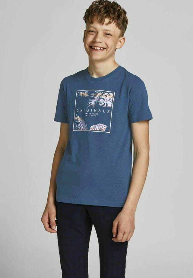 JUNGS TROPENPRINT - T-shirt med print - ensign blue