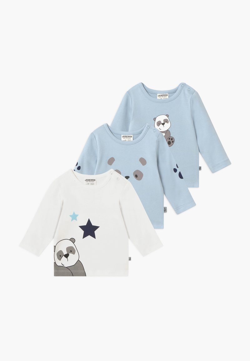Jacky Baby - PANDA LOVE 3 PACK - T-shirt à manches longues - blue/white