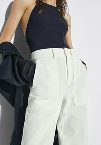 Massimo Dutti - MIT NADELSTREIFEN  - Trousers - beige - 1