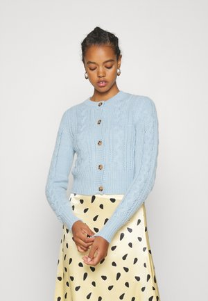 PAMELA CARDIGAN - Strickjacke - light blue