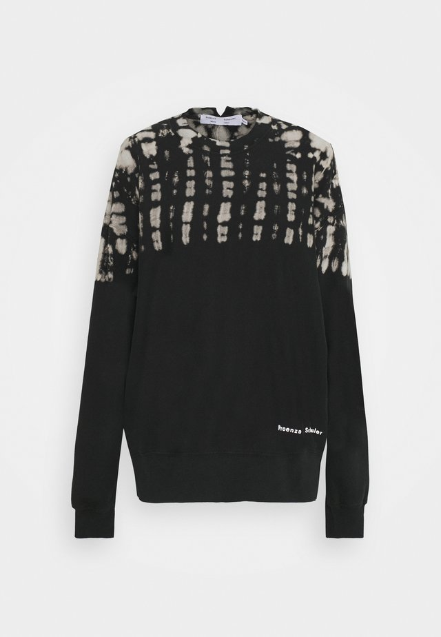 FLUID TIE DYE LONG SLEEVE - Felpa - black