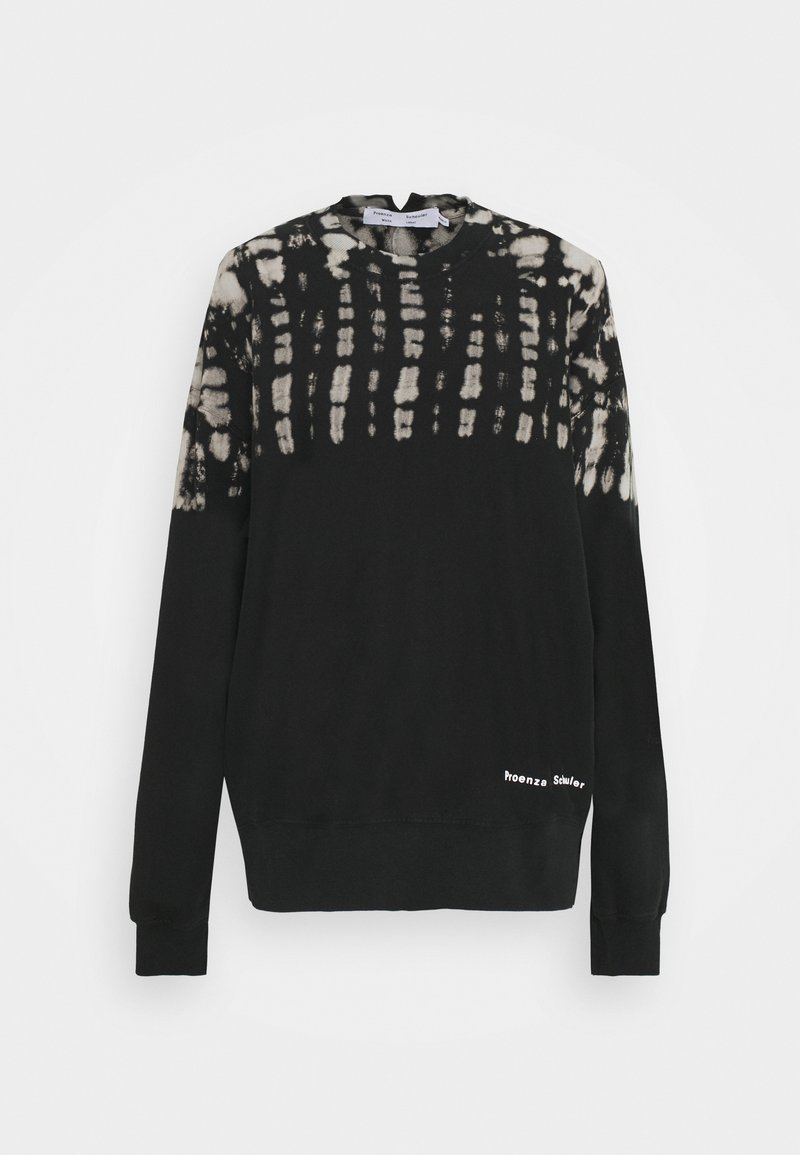 Proenza Schouler White Label - FLUID TIE DYE LONG SLEEVE - Collegepaita - black