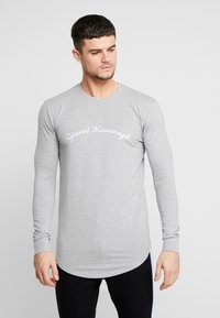 Gianni Kavanagh - CALLIGRAPHY LONG SLEEVE  - Long sleeved top - grey - 0