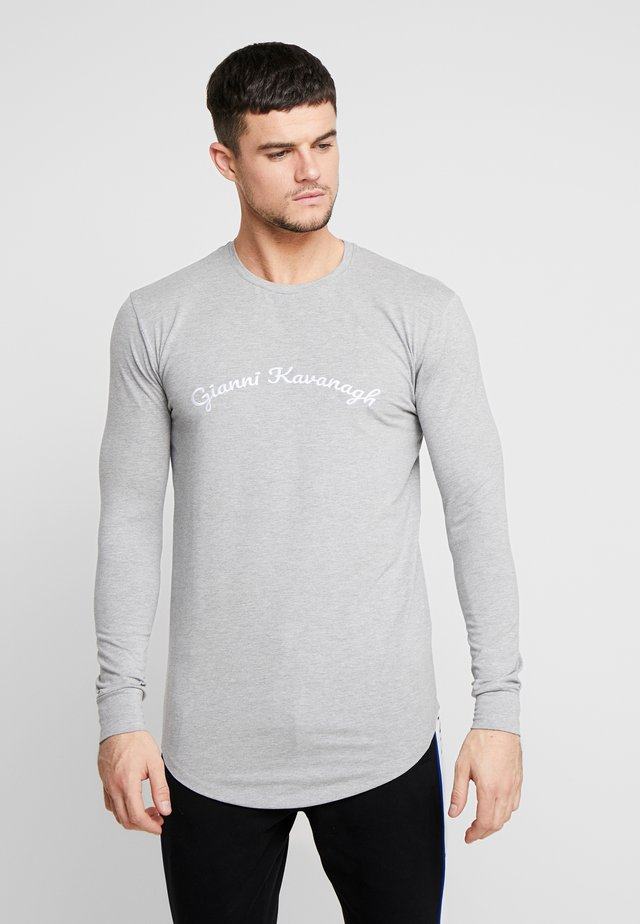 CALLIGRAPHY LONG SLEEVE  - Long sleeved top - grey