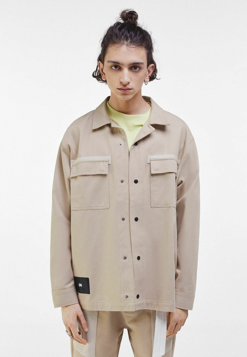 Bershka - Summer jacket - light grey
