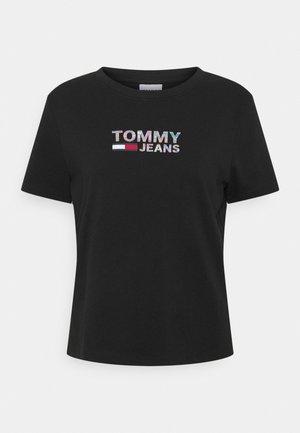 METALLIC CORP LOGO TEE - Print T-shirt - black