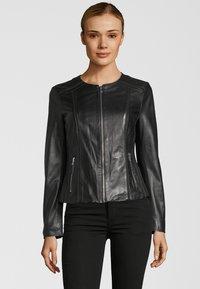 KRISS - Leather jacket - black - 0