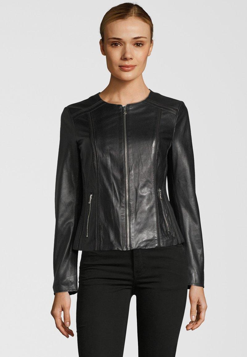KRISS - Leather jacket - black