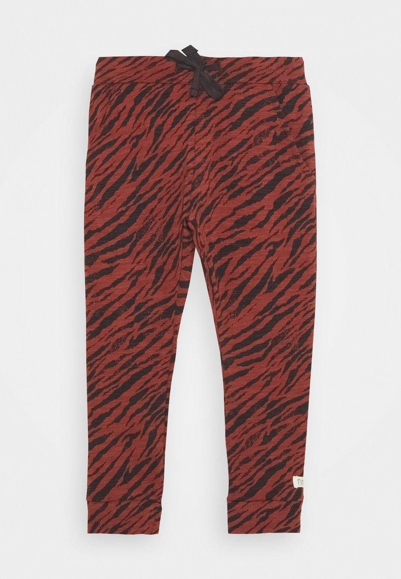 Noppies - SLIM FIT PANTS MANTECA UNISEX - Trousers - mahoganey