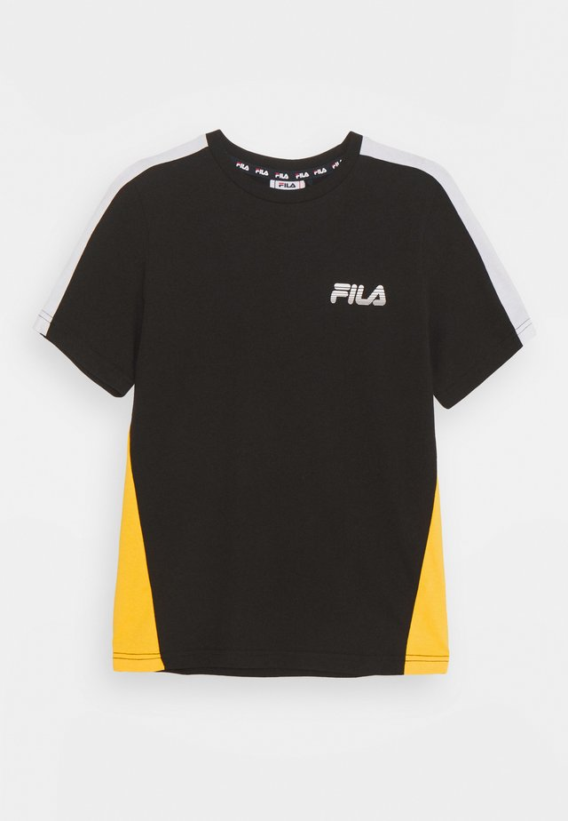 MAX GRAPHIC TEE - Triko s potiskem - black/lemon chrome/bright white