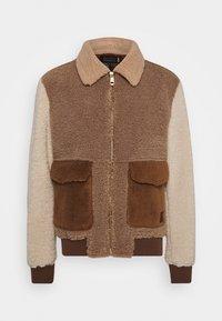 COLOURBLOCK SHERPA - Light jacket - camel/light brown