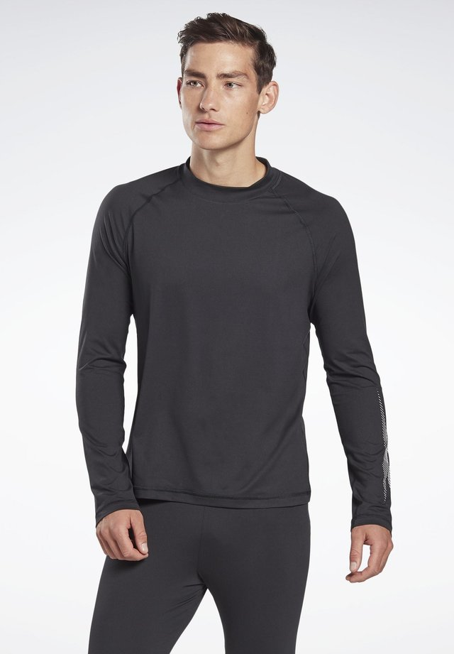 THERMOWARM TOUCH GRAPHIC BASE LAYER LONG-SLEEVE TOP - Long sleeved top - black