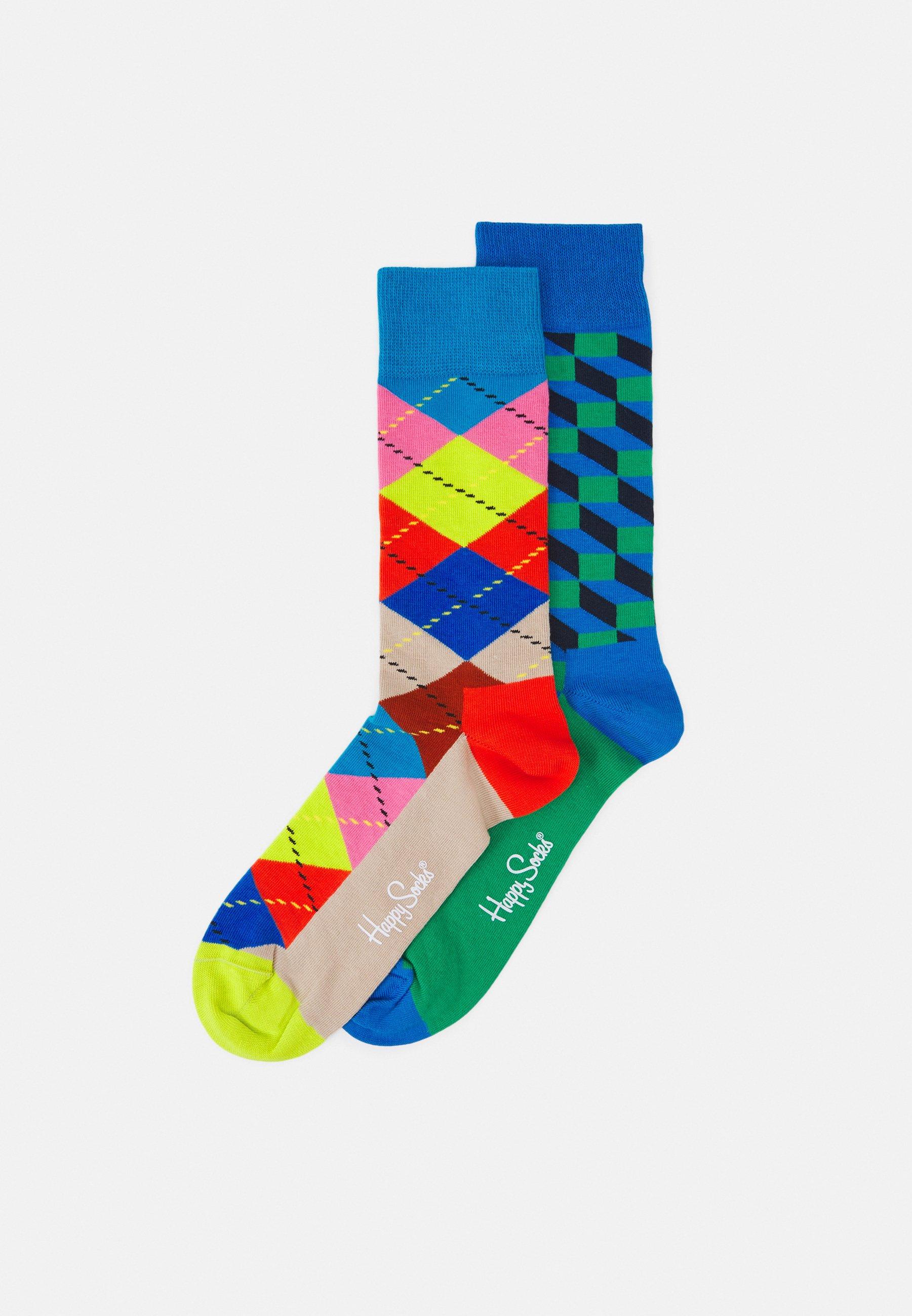 Women FILLED OPTIC SOCK ARGYLE SOCK UNISEX 2 PACK - Socks
