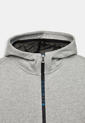 SWEAT-CARDIGAN MIT LOGO-TAPE - Sweatjakke /Træningstrøjer - mid heather grey