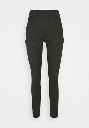 HIGH SHAPE CARGO SKINNY PANT - Trousers - raven