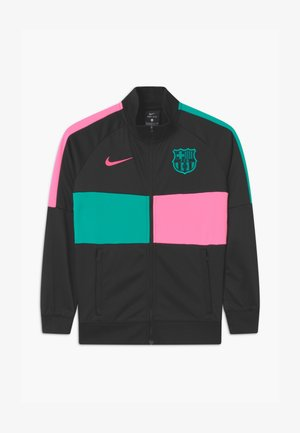 FC BARCELONA ANTHEM UNISEX - Club wear - black/pink beam/new green