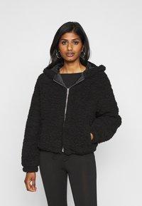 New Look Petite - SHORT BORG - Light jacket - black - 0