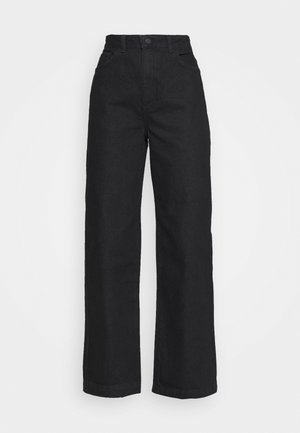 HIGH RISE WIDE LEG - Relaxed fit jeans - black