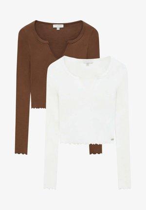 2 PACK - Longsleeve - brown