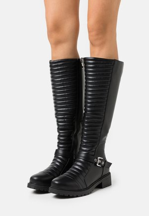 WIDE FIT TROPEZ - Cowboy/Biker boots - black