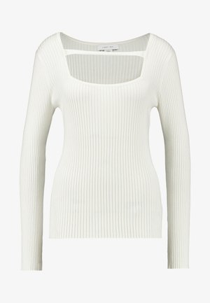 SQUARE NECK DETAIL JUMPER - Jumper - white