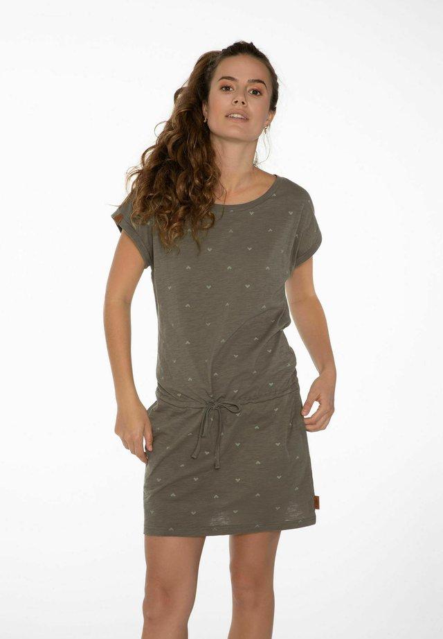 COCONUT - Žerzejové šaty - olive