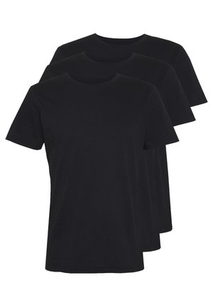 ESSENTIAL TEE 3 PACK - Basic T-shirt - black