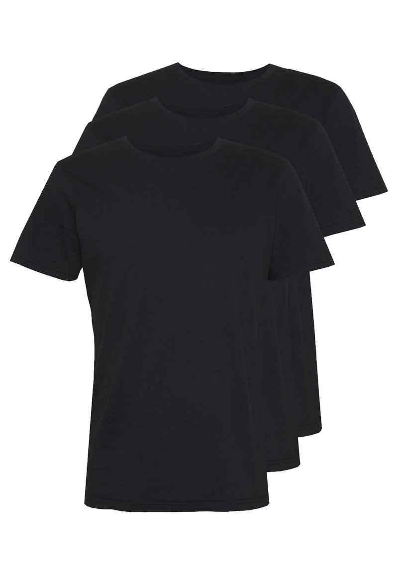 Cotton On - ESSENTIAL TEE 3 PACK - Jednoduché triko - black