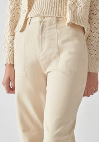 PULL&BEAR - Relaxed fit jeans - beige - 4