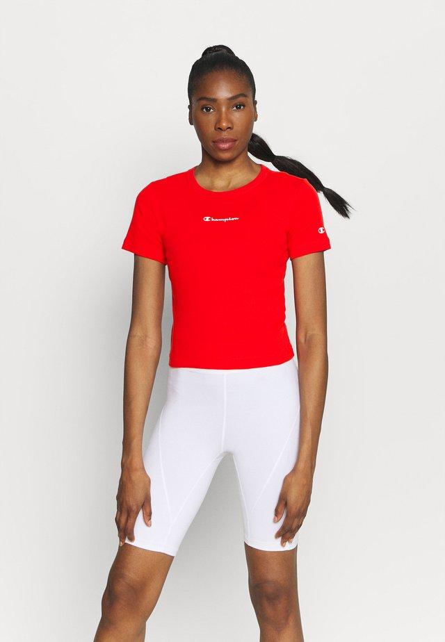 CREWNECK - Jednoduché triko - red