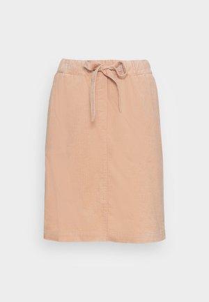 SKIRT JOGGING STYLE ELASTIC WAIST FRENCH POCKETS SHORT - A-line skirt - blushed camel