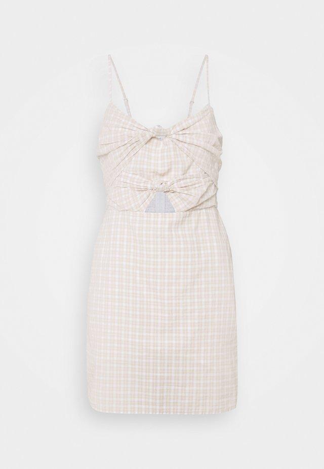 KNOT FRONT - Korte jurk - neutral