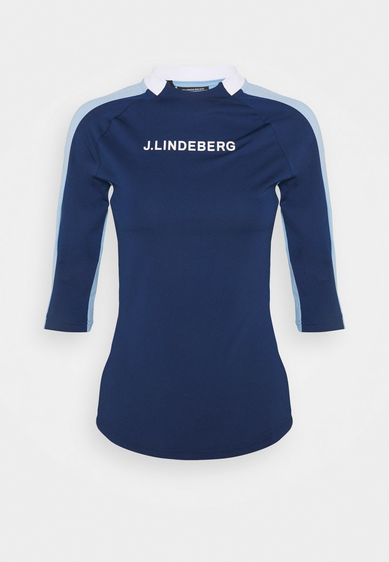 J.LINDEBERG - MARGOT SOFT COMPRESSION - Print T-shirt - midnight blue