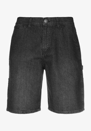 CARPENTER - Szorty jeansowe - real black washed