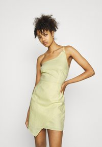 NA-KD - MINI DRESS - Cocktail dress / Party dress - dusty yellow - 0