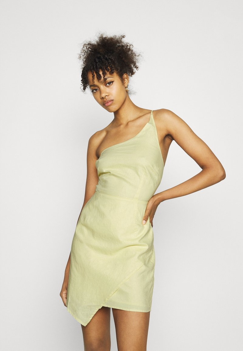 NA-KD - MINI DRESS - Cocktail dress / Party dress - dusty yellow