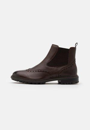 BRENSON - Korte laarzen - dark brown
