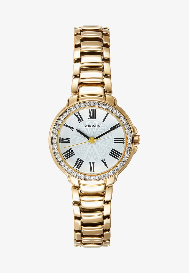 LADIES WATCH ROUND CASE - Watch - gold-coloured