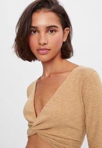 Bershka - Long sleeved top - beige - 3