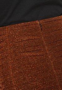 House of Holland - GATHERED MINI SKIRT - Mini skirt - bronze - 3