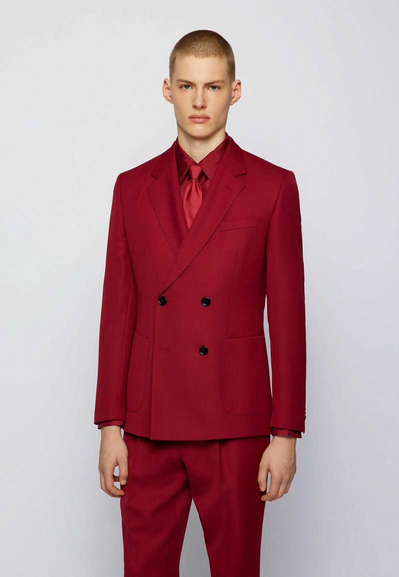 BOSS - CAYMEN - Suit jacket - dark red