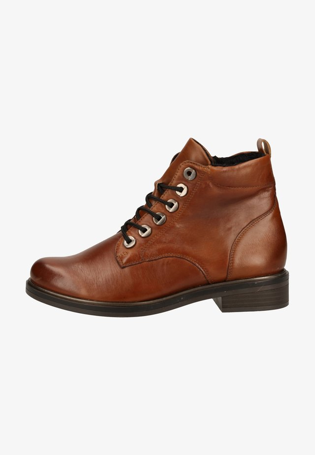 Bottines à lacets - chestnut