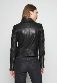 DRYKORN - PAISLY - Leather jacket - black - 2